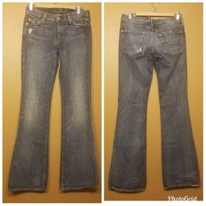 7 For All Mankind | Distressed Flared Jeans (27)